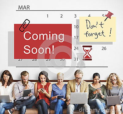 Free Coming Soon Advertising Announcement Sign Concept Stock Photos - 80316043