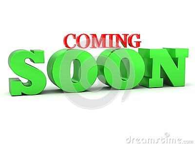 Coming soon 3D lettering
