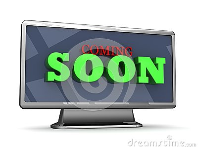Coming soon 3D lettering on a TV