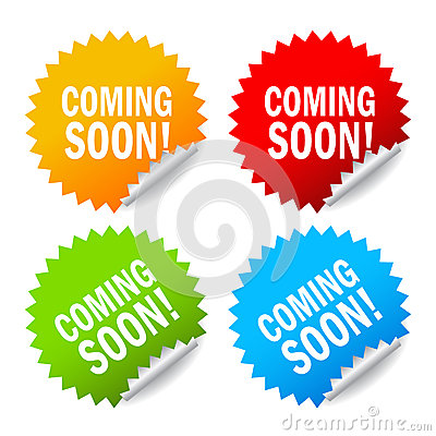Coming soon labels