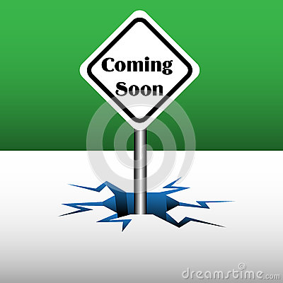 Coming soon plate