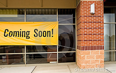 Coming soon store opening