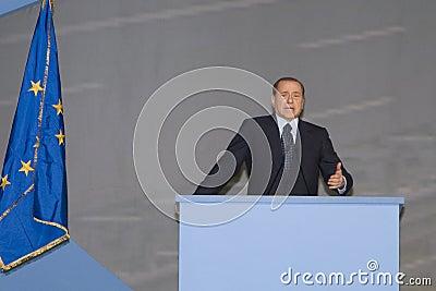 Comizio Berlusconi Editorial Photography