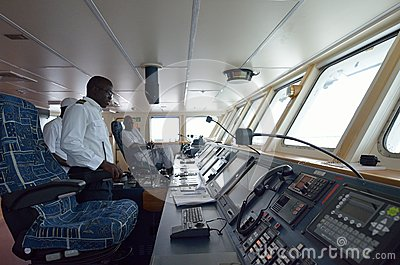 Commander of ship Editorial Photography