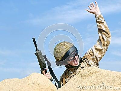 Commando in action