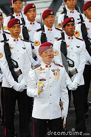 Commando guard-of-honor Editorial Photography