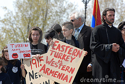 Commemoration of Armenian Genocide Editorial Photo