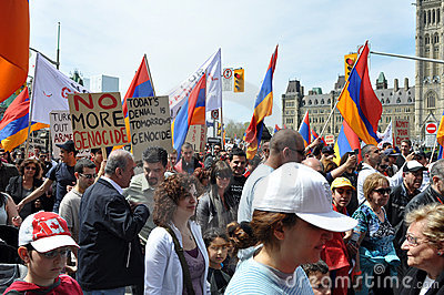 Commemoration of Armenian Genocide Editorial Photography