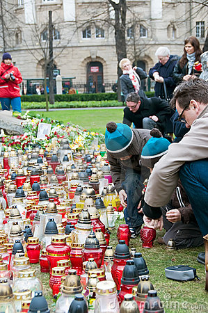 Commemoration of tragedy Editorial Stock Photo