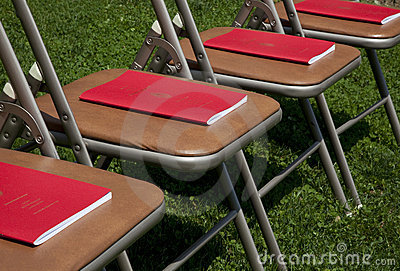 Commencement Programs on Chairs
