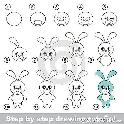 Comment dessiner un lapin dr le illustration de vecteur image 65900922 - Dessin un lapin ...