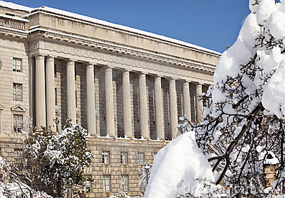Commerce Department After Snow Constitution Ave