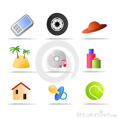 Commerce products icons