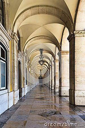 Commerce Square in Lisbon ,