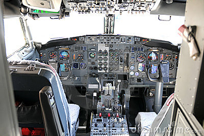Texting While Driving >> Commercial Airline Cockpit Royalty Free Stock Photography ...