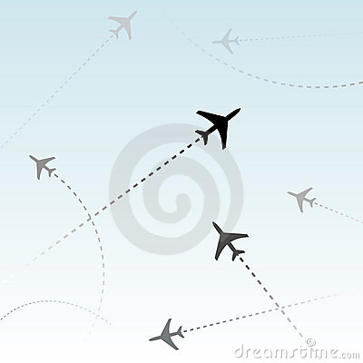 Commercial Airline Passenger flights air traffic