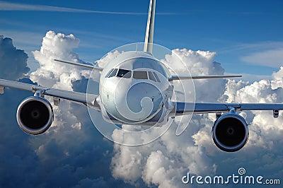 Commercial Airliner in Flight