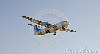 Commercial airliner in flight Editorial Image