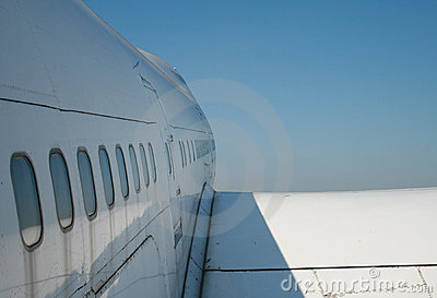 Commercial airliner and sky