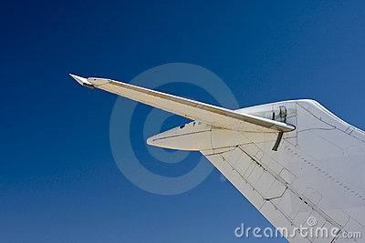 Commercial airplane tail