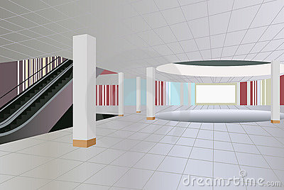 Commercial center interior