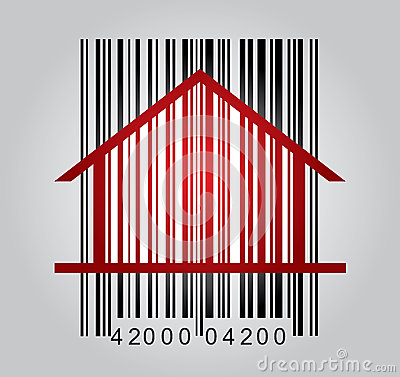 Commercial concept with barcode