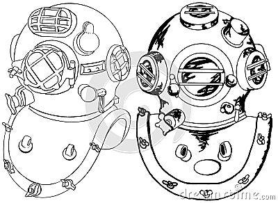 Commercial dive helmets