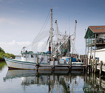 Commercial Fishing boat in marina