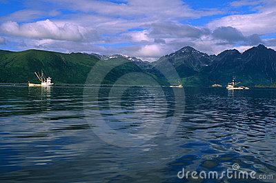 Commercial Fishing boats in Alaska