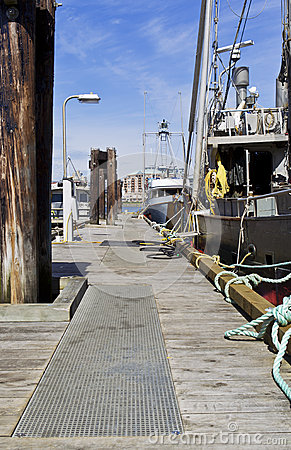 Commercial Fishing Dock in Vancouver Island Canada