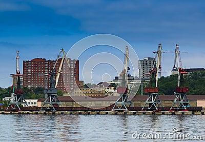 Commercial harbor vladivostok