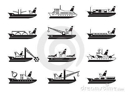 Commercial and passenger ships