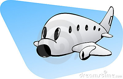 Commercial plane graphic