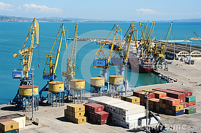 The commercial port of Durres