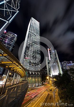 Commercial Skyscraper at Night