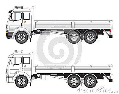 Commercial truck vector illust