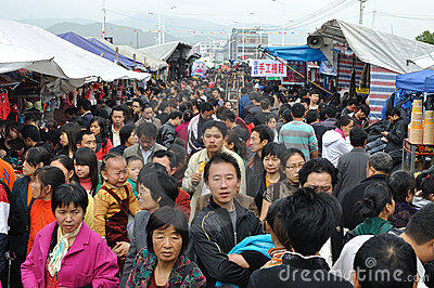 commercial walking street Editorial Stock Photo