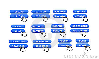 Commercial Web Site Buttons Stock Photo - Image: 9042410
