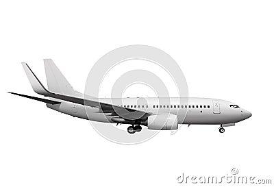 White plane with path l