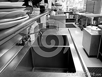 Commerciële keuken: dubbele gootsteen