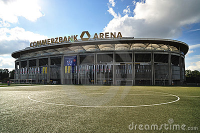Commerzbank Arena Stadium in Frankfurt Editorial Photography