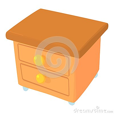 Commode icon, cartoon style Vector Illustration