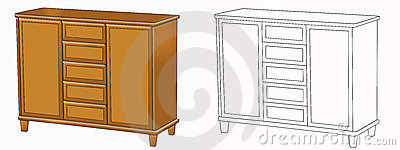 Commode on white Cartoon Illustration