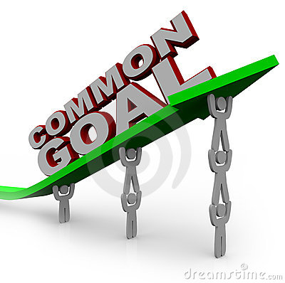 Common Goal - Team of People Lift Growth Arrow