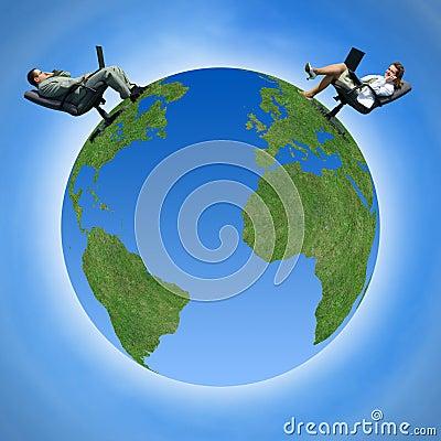 Free Communication Around The Globe Stock Photo - 3179720