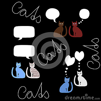 Communication bubbles - cats