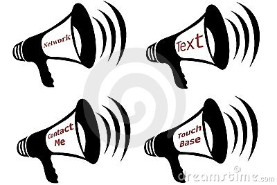 Communication Bullhorn Collage