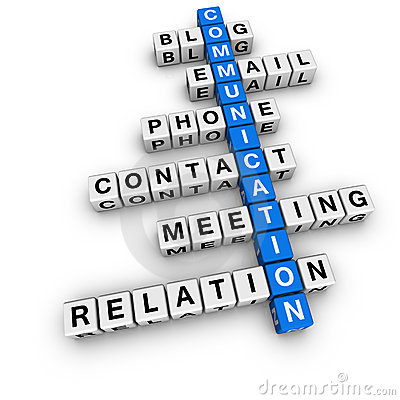 Free Communication Crossword Royalty Free Stock Images - 14904969