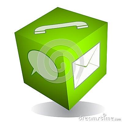 Communication cube icon