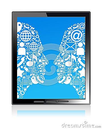 Communication head  tablet